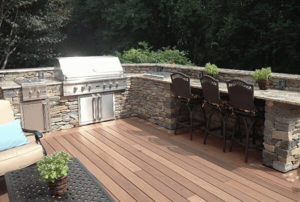 Outdoor masonry kitchen in CT